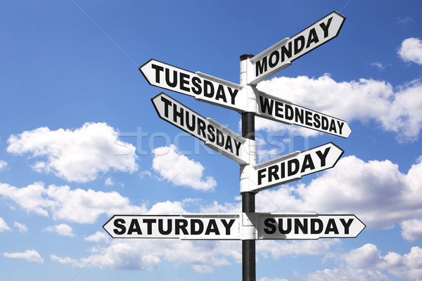 Week days signpost Stock photo © RTimages