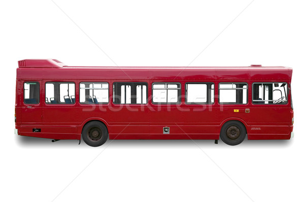 Red single deck bus Stock photo © RTimages