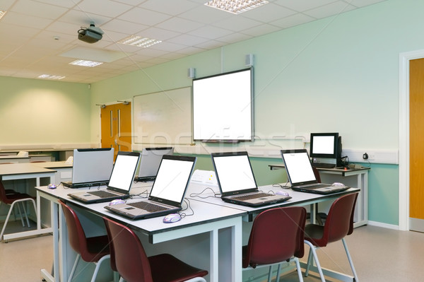 IT classroom blank computer screens Stock photo © RTimages