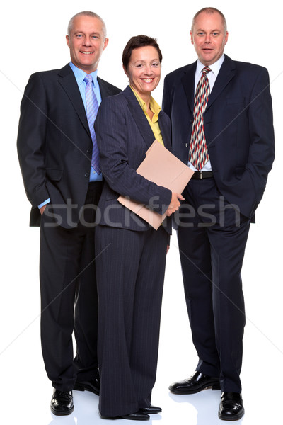 Stock fotó: érett · üzletemberek · izolált · fehér · fotó · üzleti · csapat