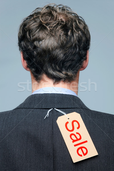 Sale label on the back of a mans jacket Stock photo © RTimages