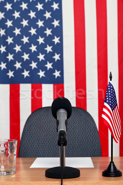 American news desk Stock photo © RTimages