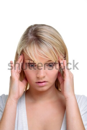 Blond woman in deep thought Stock photo © RTimages