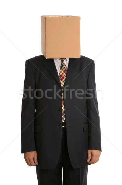 Box man standing Stock photo © RTimages
