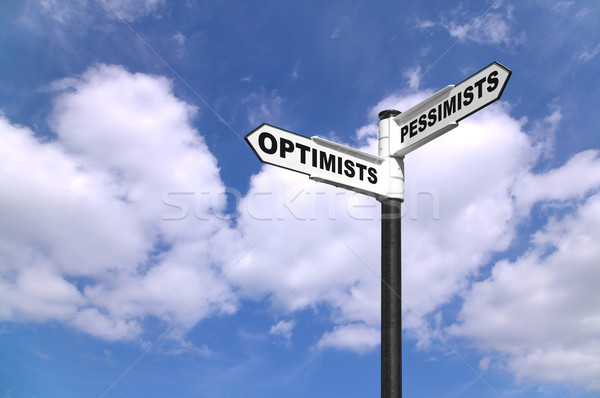 Optimists and Pessimists signpost Stock photo © RTimages