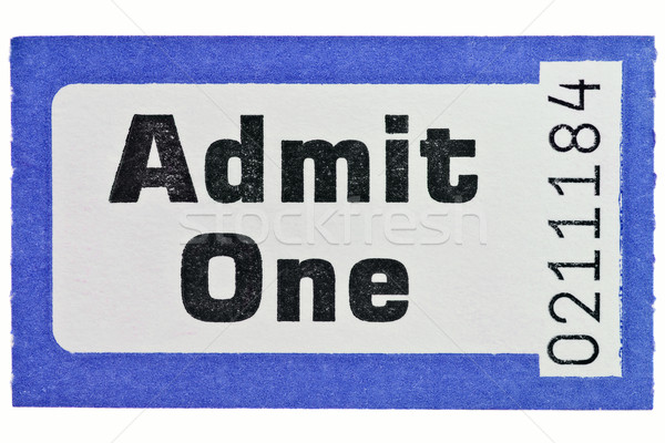 Admit one ticket stub isolated on white Stock photo © RTimages