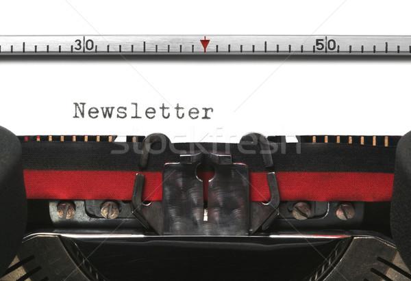машинку информационный бюллетень старые подлинный шрифт фон Сток-фото © RTimages