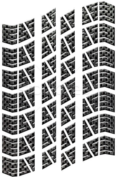 Carbon Tread Isolated Stock photo © RTimages