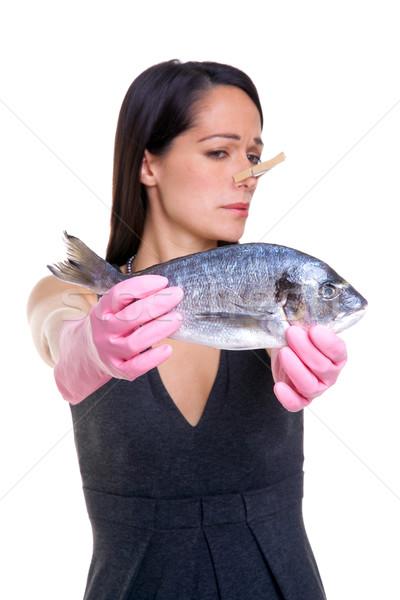 Vrouw zoals vis armen lengte Stockfoto © RTimages