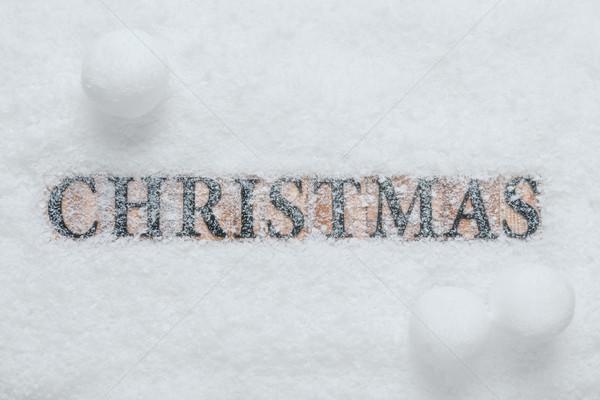 言葉 クリスマス 雪 木製 手紙 ブロック ストックフォト © RTimages