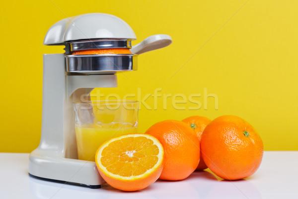 Freshly squeezed orange juice Stock photo © RTimages