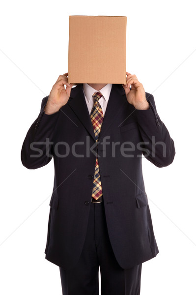 Box man reveal Stock photo © RTimages
