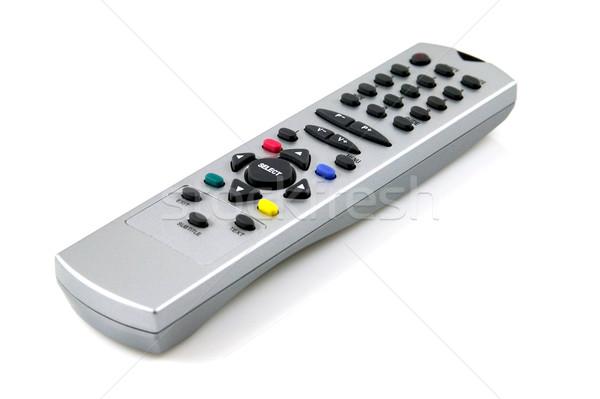 Télécommande blanche télévision Photo stock © RTimages