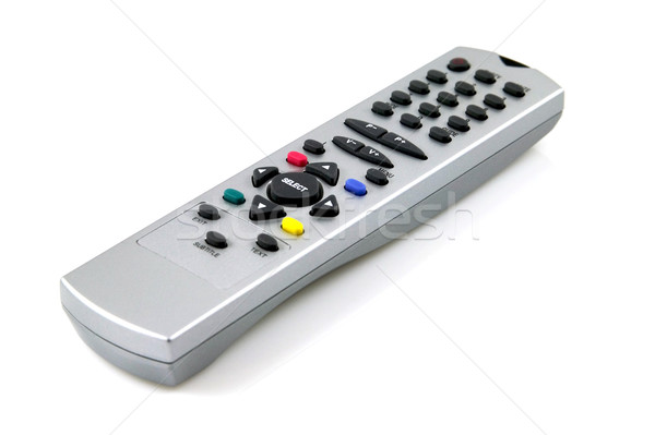 Controle remoto branco televisão Foto stock © RTimages