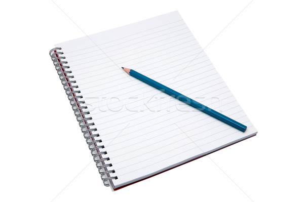 Blank notebook and pencil Stock photo © RTimages