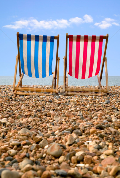 Twee strand laag perspectief Rood Stockfoto © RTimages