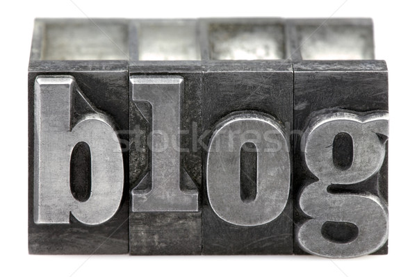Blog mot vieux impression blocs Photo stock © RTimages