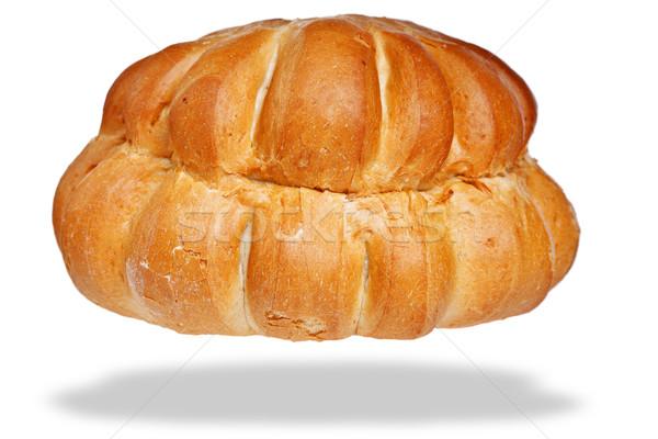 Bochenek biały domek chleba odizolowany Fotografia Zdjęcia stock © RTimages