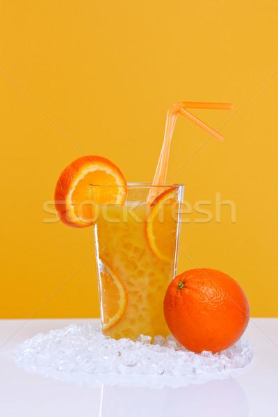 Glass of fresh orange juice Stock photo © RTimages