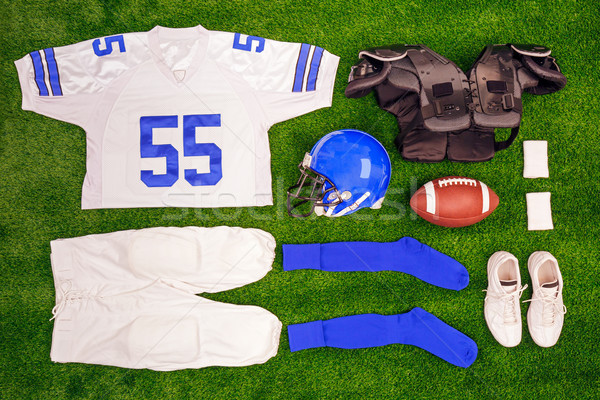 American footbal kit Flat lay Stock photo © RTimages