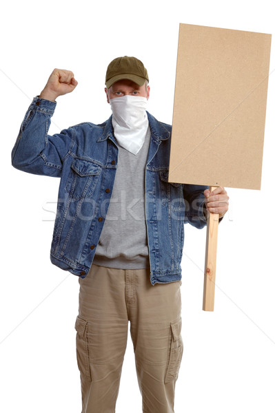 Masked protester Stock photo © RTimages