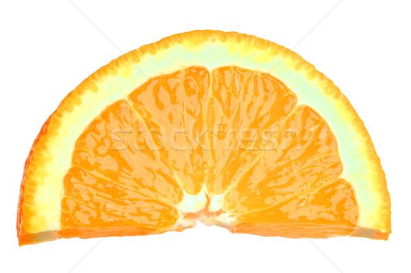 Plaster pomarańczowy świeże soczysty pomarańczowy plasterka odizolowany Zdjęcia stock © RTimages