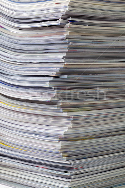 Stack of magazines close up Stock photo © RTimages
