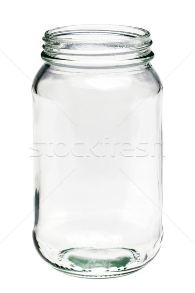 Empty glass jar isolated on a white background Stock photo © RTimages