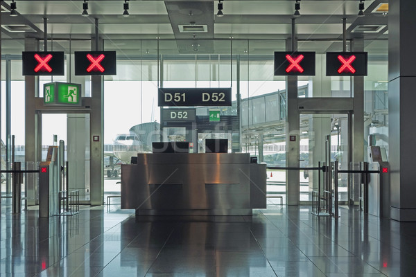 Airport departure lounge gates closed Stock photo © RTimages