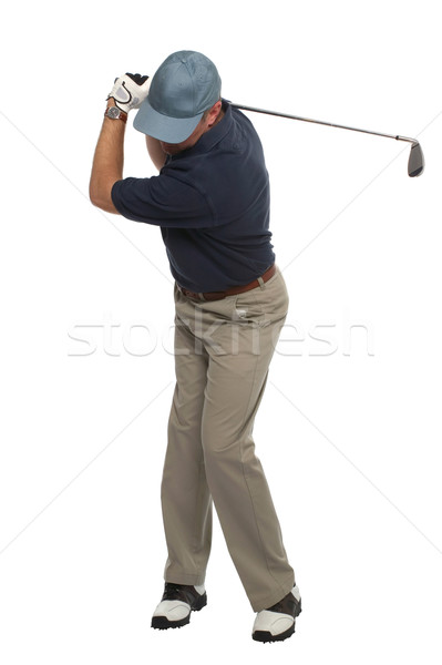 Golfer iron shot back swing Stock photo © RTimages
