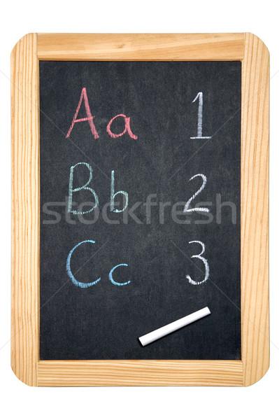 ABC/123 blackboard Stock photo © RTimages