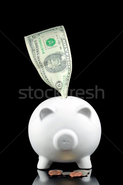 Stock photo: Five Dollar Piggy bank