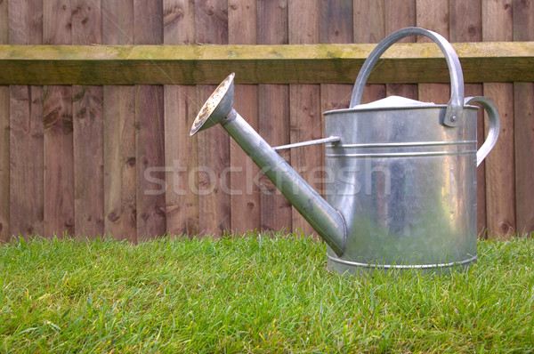 Watering can on grass Stock photo © RTimages