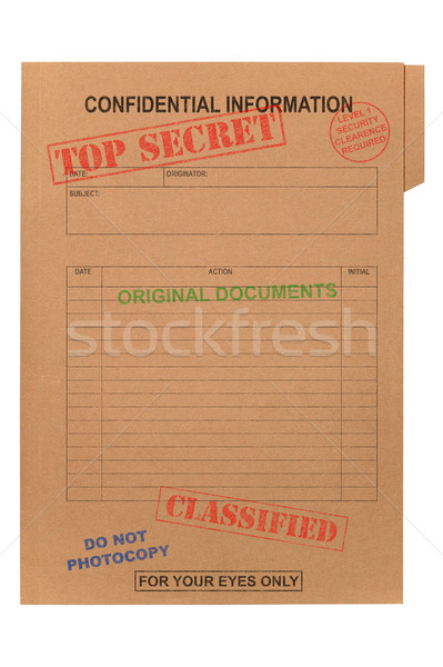 Top Secret Confidential file Stock photo © RTimages