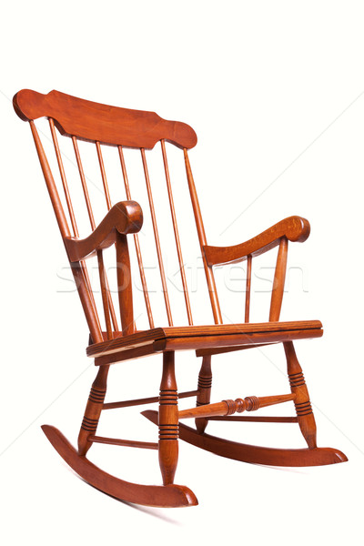 Bujane odizolowany biały Fotografia krzesło Zdjęcia stock © RTimages