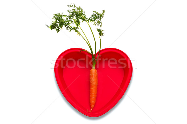 Amour carottes photo carotte coeur Photo stock © RTimages