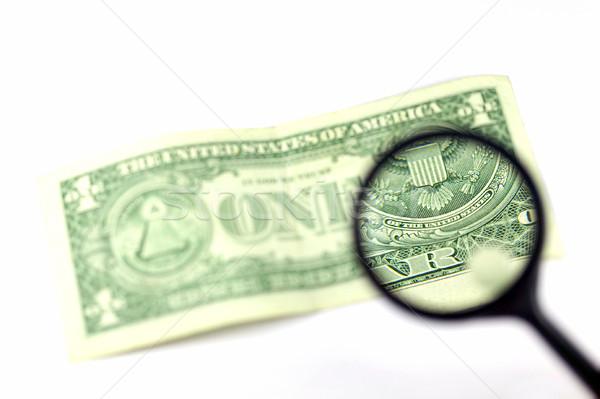 Stock photo: Examine the dollar #3
