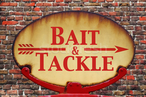 Retro sign Bait and tackle Stock photo © RTimages