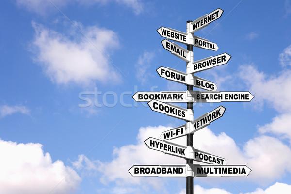 インターネット 用語 道標 画像 にログイン ストックフォト © RTimages
