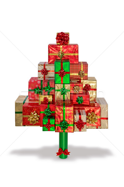Christmas present tree isolated on white Stock photo © RTimages