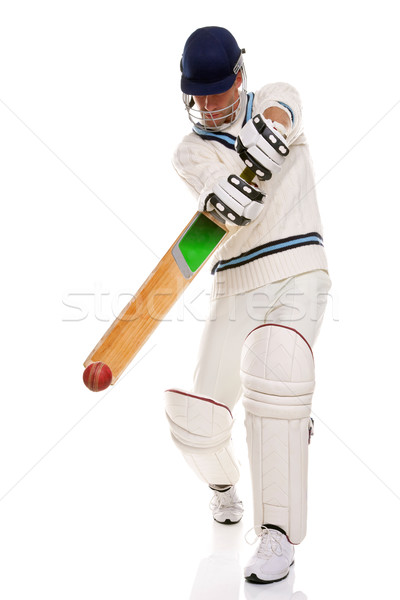 Cricketer playing ashot Stock photo © RTimages