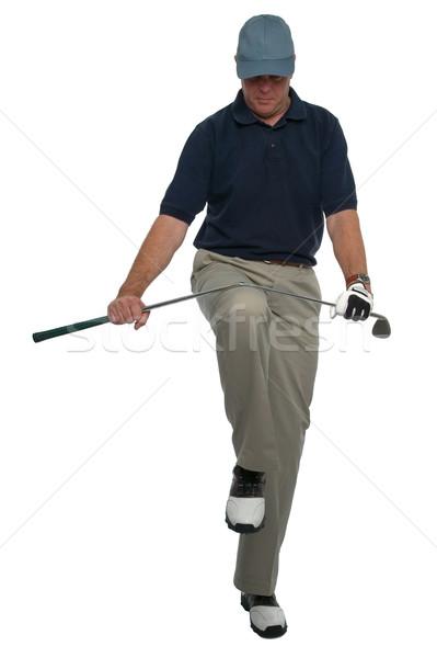 сердиться гольфист клуба колено гольф спорт Сток-фото © RTimages