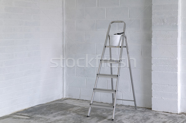 Stepladder and paint pot Stock photo © RTimages