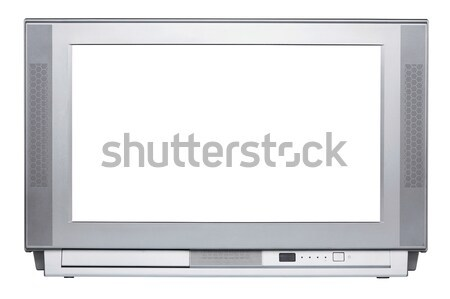 TV set isolated with clipping path Stock photo © RTimages
