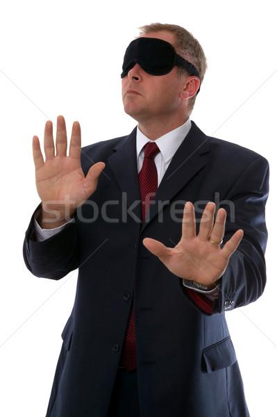 Geblinddoekt zakenman verwarring verloren Stockfoto © RTimages