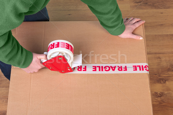 Packaging a box Stock photo © RTimages