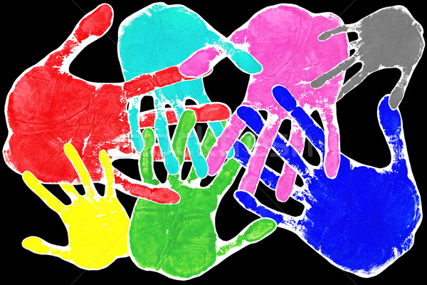 Pop art hands Stock photo © RTimages
