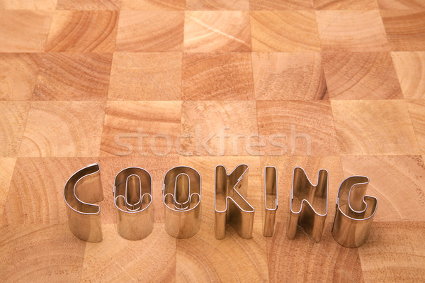 Cooking letters Stock photo © RTimages