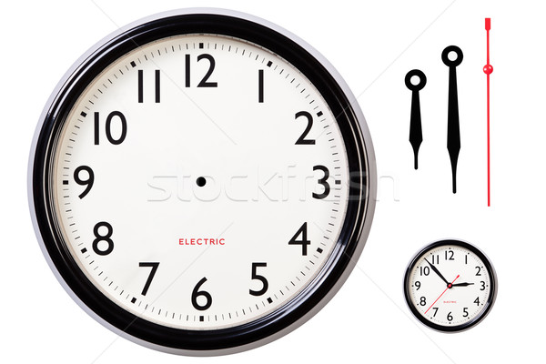 Blank clock face and hands Stock photo © RTimages