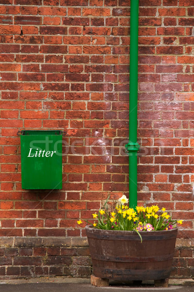 Litter bin on the wall Stock photo © RTimages